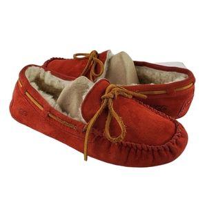 UGG Dakota Red Suede Slippers